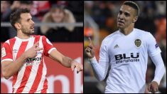 Stuani y Rodrigo, los delanteros mejor colocados para reforzar al Barcelona.