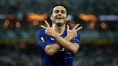Pedro Rodríguez celebra un gol con el Chelsea. (Getty)