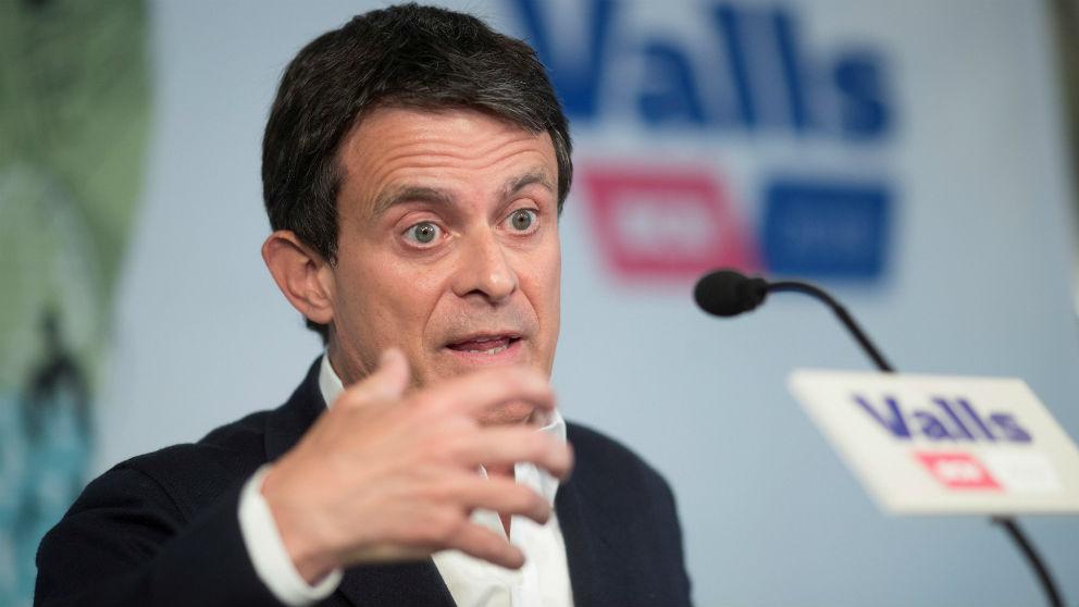Manuel Valls este miércoles durante la primera rueda de prensa que ha realizado tras las elecciones del 26M