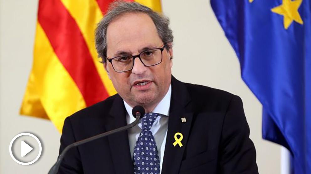 Quim Torra, presidente de la Generalitat. Foto. Getty
