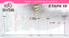 Así es el perfil de la etapa 19 del Giro de Italia.