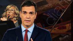 Pedro Sánchez y Manuela Carmena.