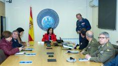 La ministra Margarita Robles despacha con el Mando Conjunto de Ciberdefensa.