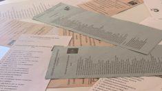 Papeletas de voto de las elecciones del 26-M