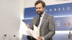 El portavoz de Vox en el Congreso de los Diputados, Iván Espinosa de los Monteros. (Foto: Efe)