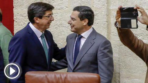 Juan Marín (C's) y Juanma Moreno (PP).