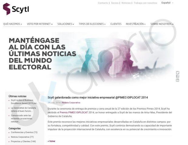 La Generalitat premió a la empresa que escrutó el 26-M por