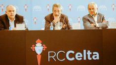 Carlos Mouriño, presidente del Celta de Vigo, ante los medios de comunicación (@RCCelta)