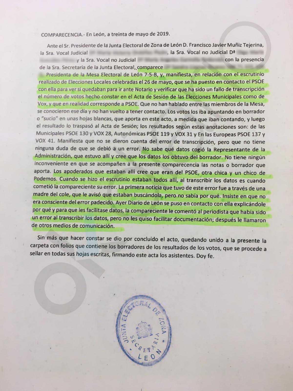 El PSOE 'convenció' a dos vocales para cambiar el resultado de la mesa que le da la Alcaldía de León