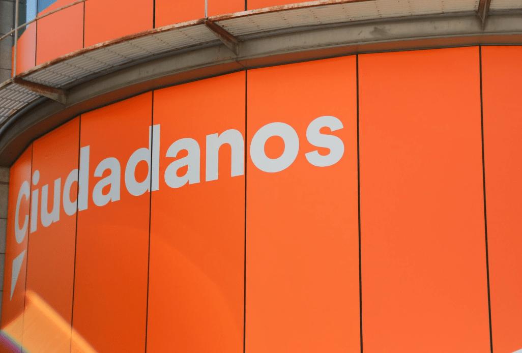 Sede de Ciudadanos en la calle Alcalá (Foto @EP)