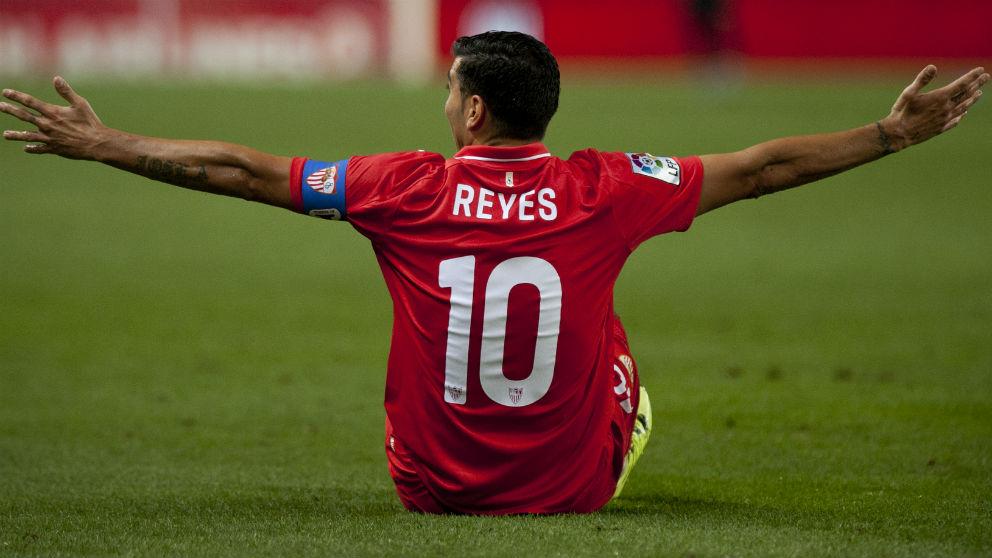 José Antonio Reyes, en un partido con el Sevilla. (AFP)