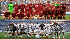 Tottenham y Liverpool posan con toda la plantilla. (Getty)