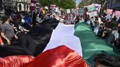 Manifestación anti israelí en Berlín. Foto: AFP
