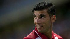 José Antonio Reyes, durante un partido con el Sevilla. (AFP)