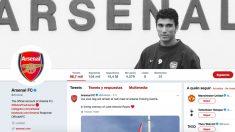 Así luce la cuenta oficial del Arsenal tras el fallecimiento de Reyes.