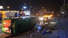 Accidente de autobus a la altura de Alcobendas. @Twitter