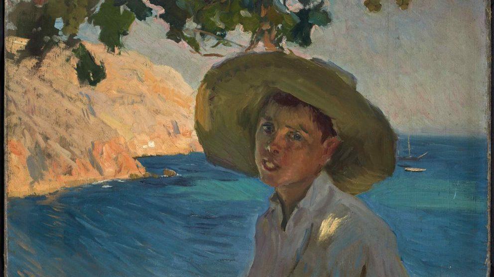 'Chico con sombrero, Jávea' de Joaquín Sorolla @Galería Jorge Alcolea