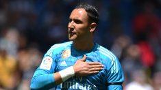 Keylor Navas, en su último partido en el Bernabéu.