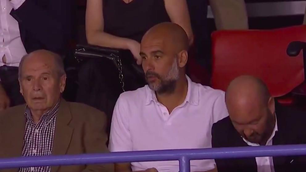 Pep Guardiola disfrutó del Baxi Manresa – Real Madrid.