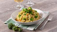 Receta de risotto de brócoli y almendras