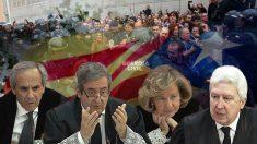 Fiscales del procés: Jaime Moreno, Javier Zaragoza, Consuelo Madrigal y Fidel Cadena (de izquierda a derecha).