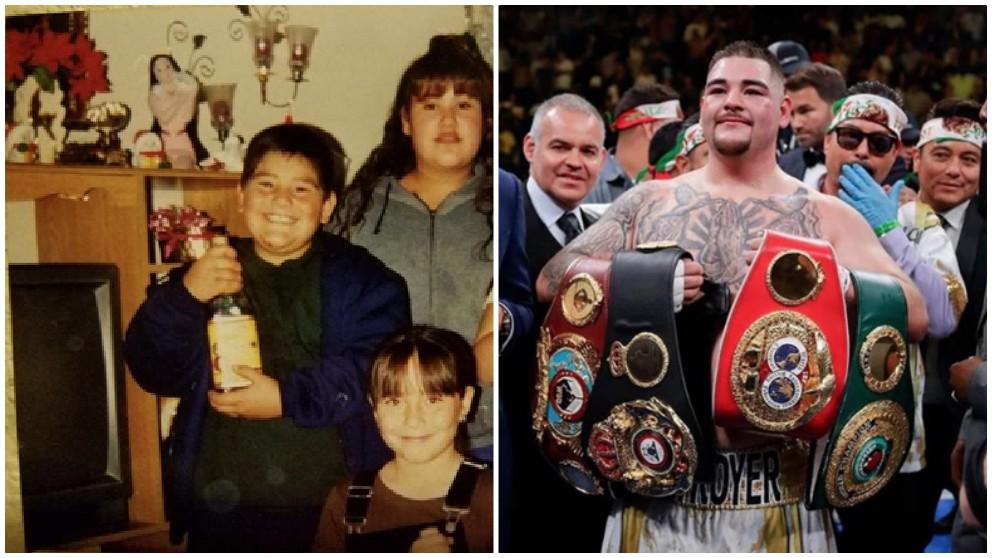 Andy Ruiz, el flamante nuevo campeón del mundo de los pesados.
