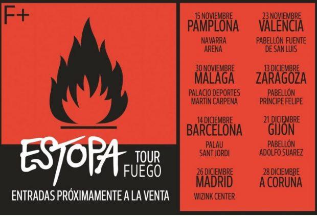 Estopa regresa con 'Fuego' y anuncia una gira de presentación por toda España