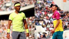 Rafael Nadal y Kei Nishikori. (Getty)