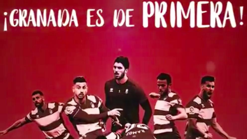 El Granada celebra su ascenso a Primera.