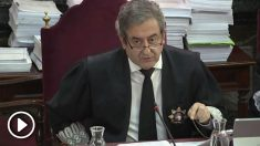 El fiscal Javier Zaragozaen una imagen de archivo durante el juicio al 'procés'. EFE