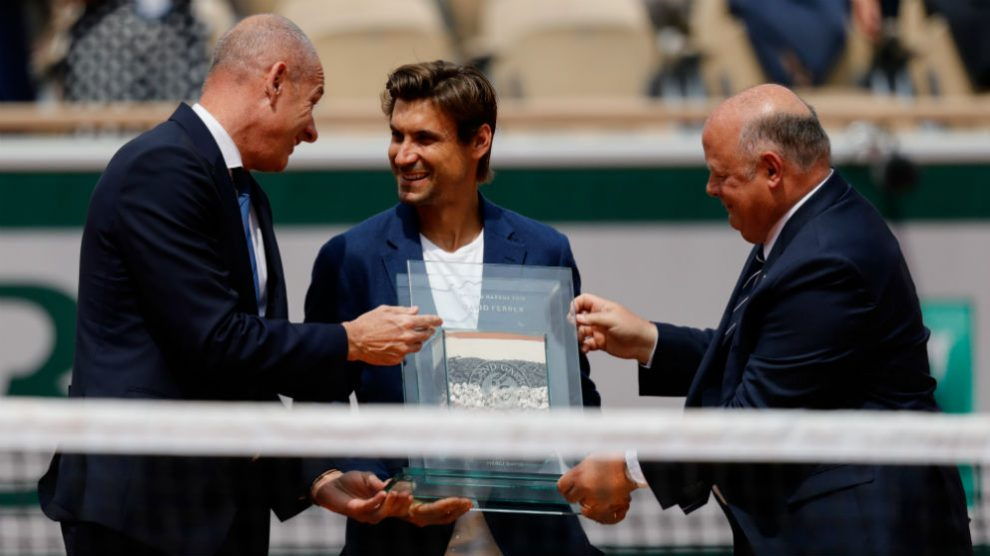 Roland Garros rindió homenaje a Ferrer. (AFP)