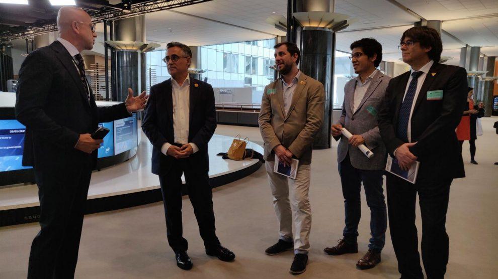 Puigdemont y Comín, esta tarde en el Parlamento Europeo con el vicepresidente liberal de la cámara