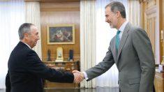 El Rey recibe a Juan Baldoví durante la ronda de consultas iniciada esta mañana