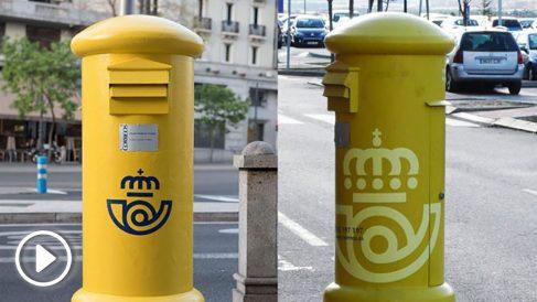 Los dos logos de Correos, el nuevo y el anterior.