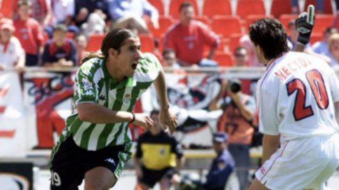 Gastón Casas celebra un gol ante el Sevilla (@GCasas20)