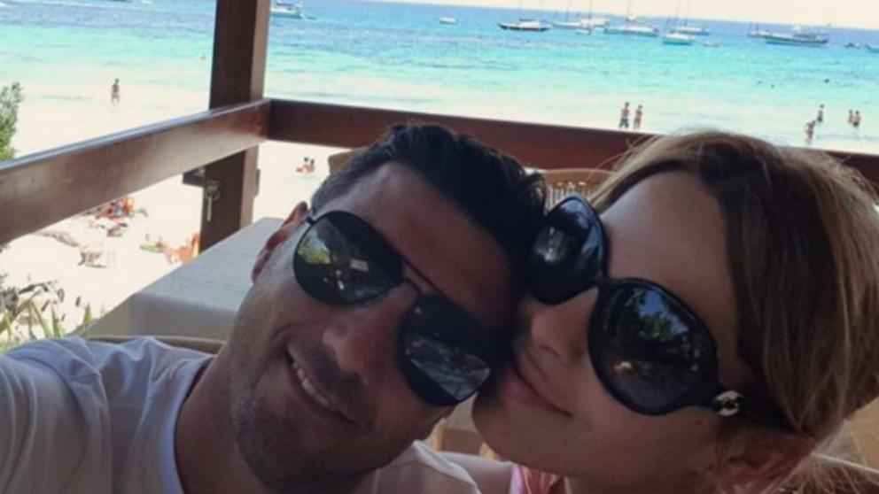 José Antonio Reyes junto a su mujer Noelia López. (Instagram)