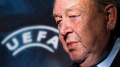 Lennart Johansson, ex presidente de la UEFA. (AFP)