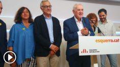 Ernest Maragall junto a su equipo para el Ayuntamiento de Barcelona