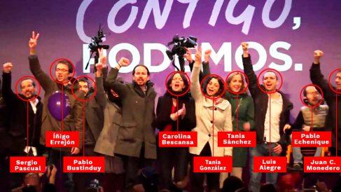 Los purgados por Pablo Iglesias que ya no siguen en Podemos en esta foto de 2015