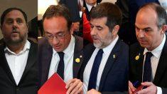 Oriol Junqueras, Josep Rull, Jordi Sánchez y Jordi Turull.