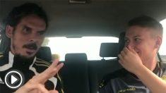 Alberto Rodríguez, en una entrevista con el rapero Zurdanov antes de las elecciones del 28-A. (Fuente: YouTube)