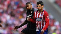 Álvaro Morata en un partido contra el Sevilla en el Wanda Metropolitano (AFP)