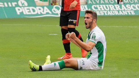 Andrés Martín, en un partido con el Córdoba.