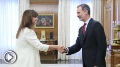 El Rey recibe a Laura Borràs en la Zarzuela