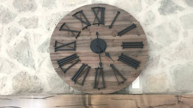 como hacer reloj de madera