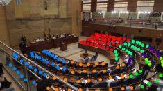 Distribución de la Asamblea de Madrid el pleno constitutivo.