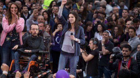 Irene Montero en campaña electoral de Podemos @getty