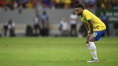 Neymar se lesionó contra Qatar. (AFP)