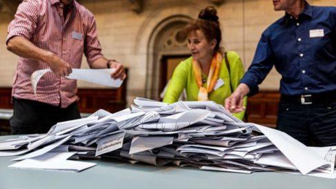 Papeletas de las elecciones de Dinamarca. Foto: Europa Press