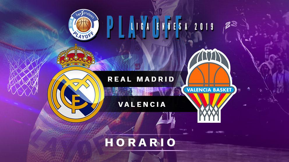 Semifinales Playoff Liga Endesa 2019: Real Madrid – Valencia Basket   Horario del partido de baloncesto de Liga Endesa.
